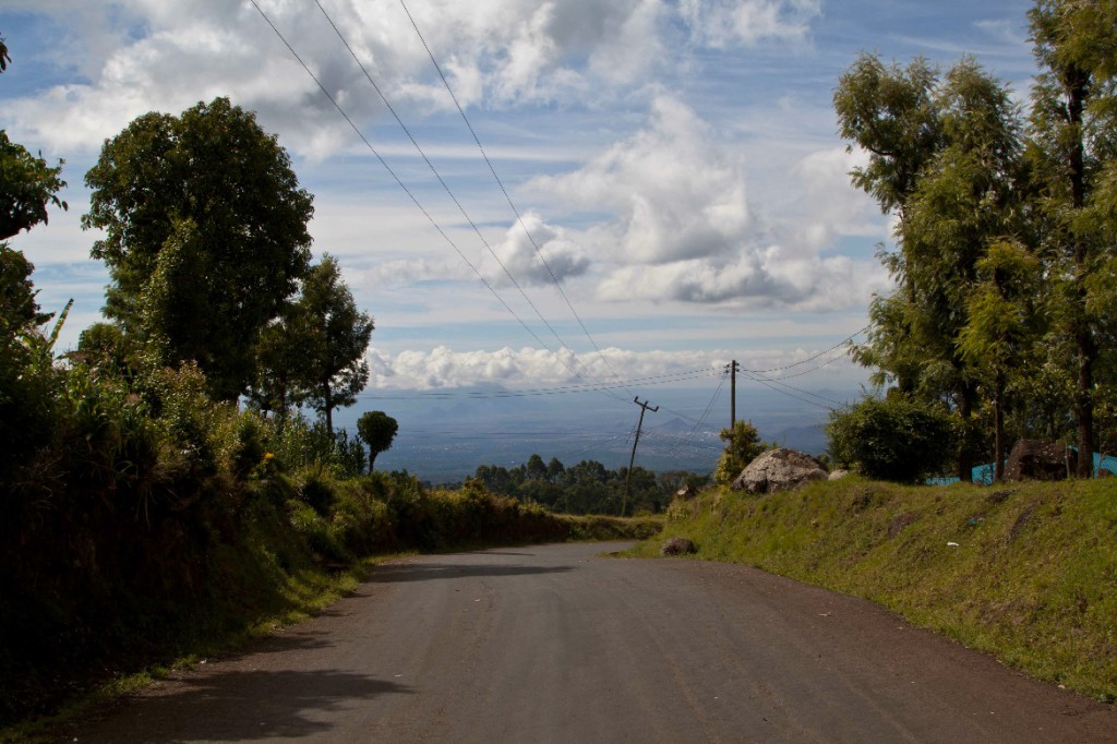 018Walk-down-paved-road-Kilimanjaro