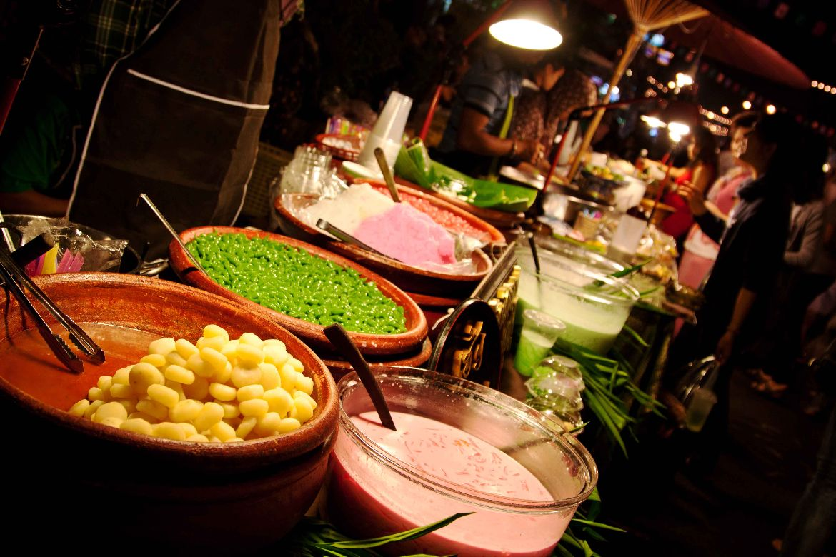 Crazy colorful food Bangkok
