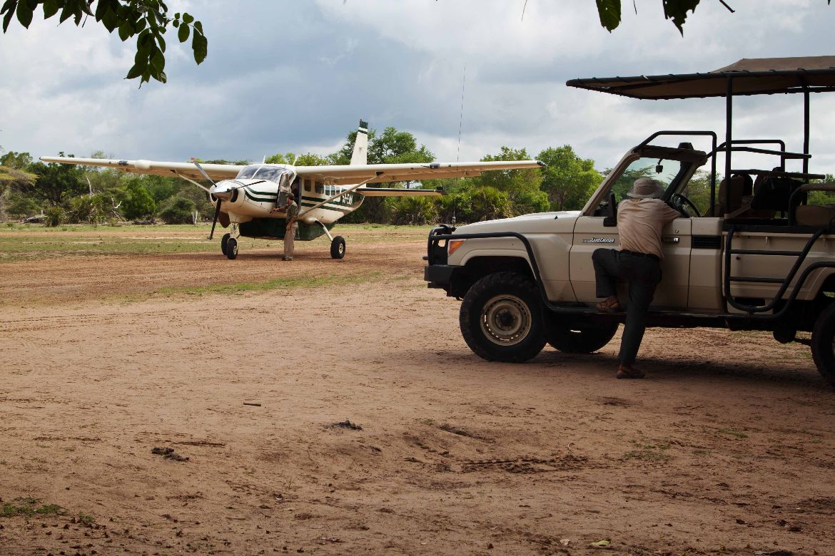 Air strip Selous Game Reserve