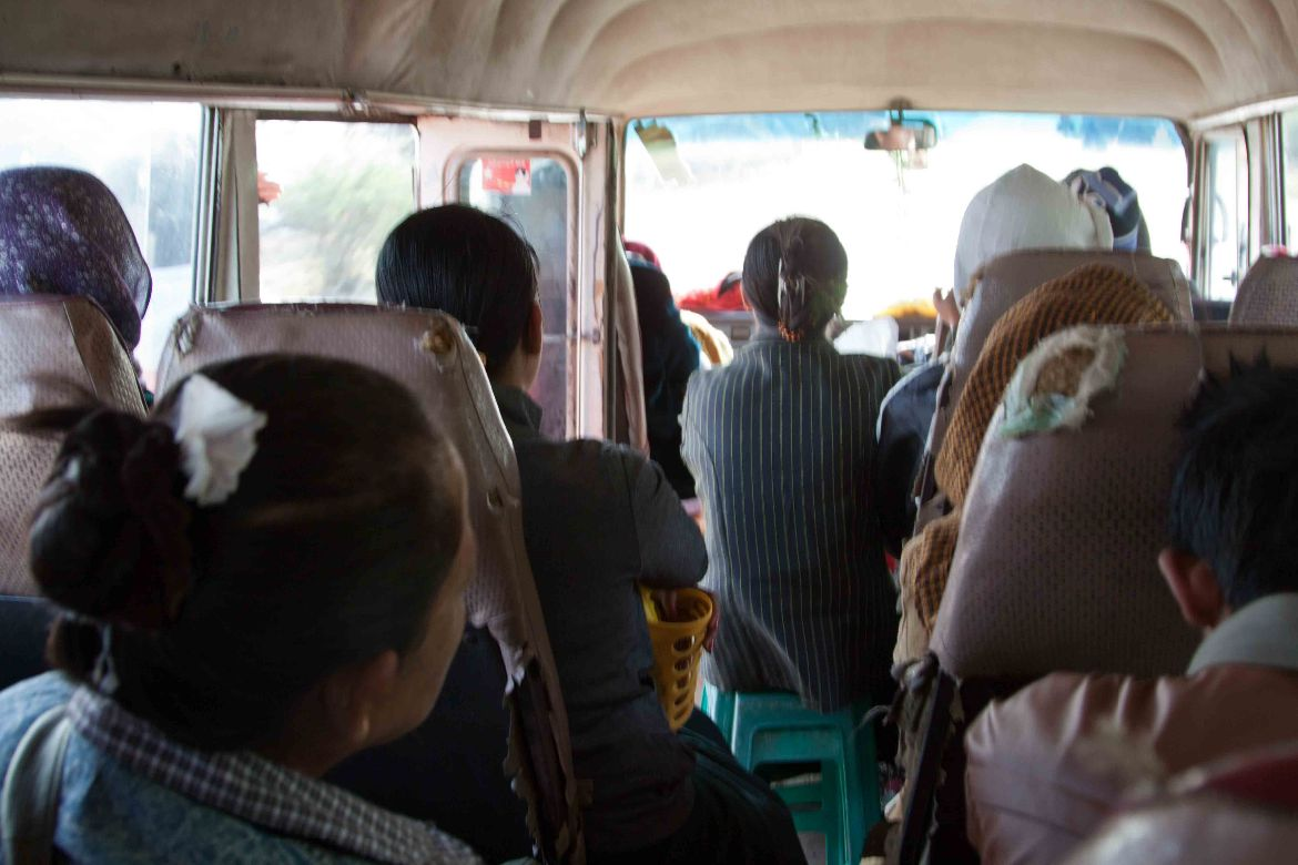 Local bus from Thazi to Kalaw