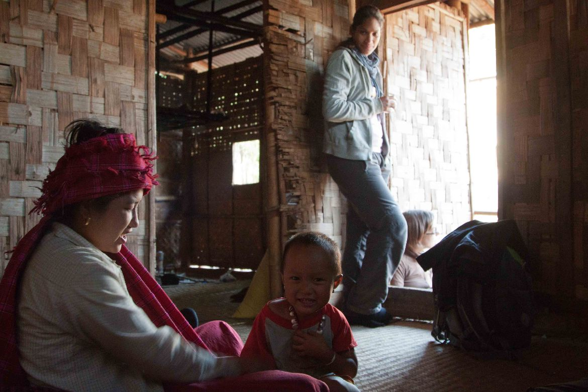 Family Trekking Inle Lake