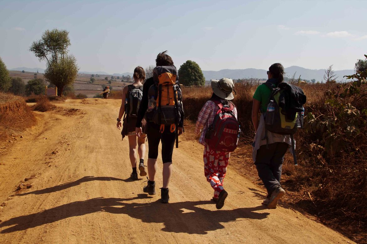 Trekking to Inle Lake