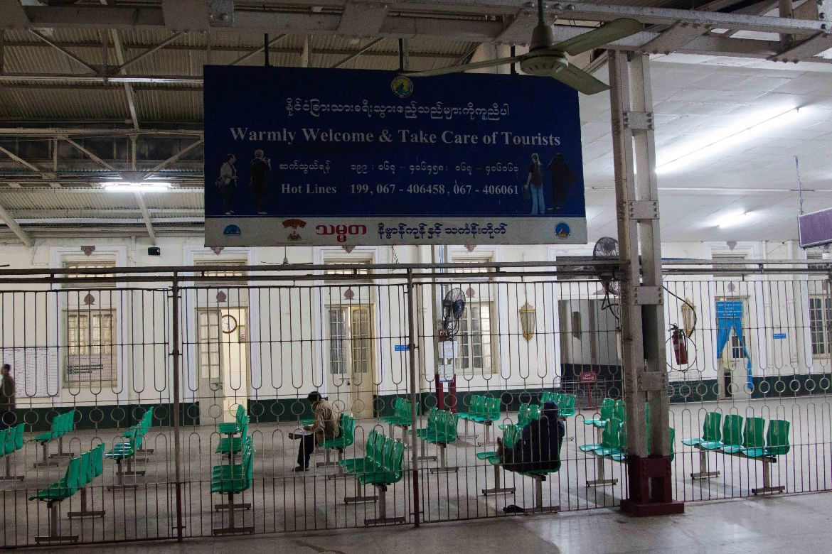 Train station Yangon