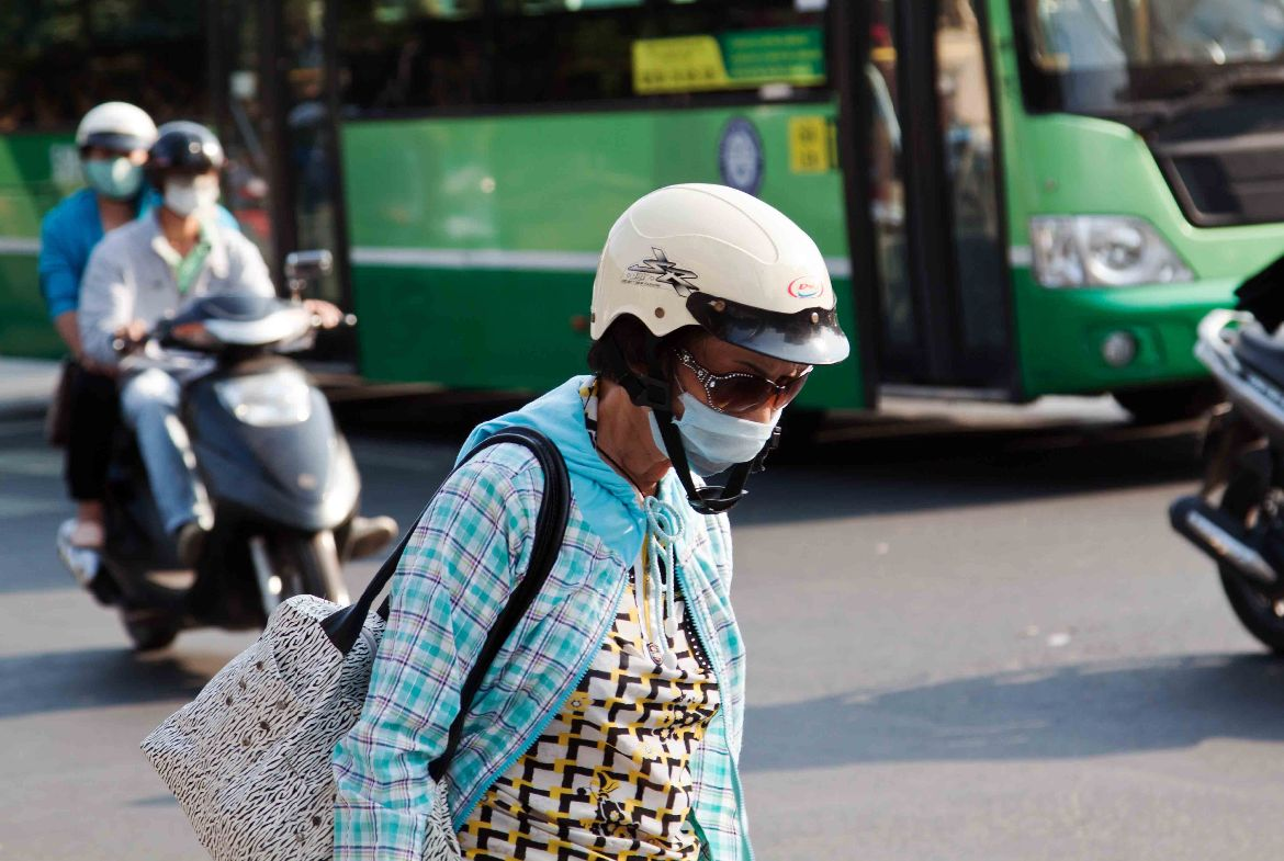 Helmet sun glasses and mouth protection Ho Chi Minh City