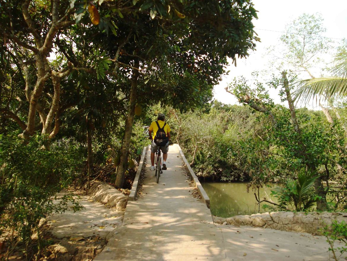 Bridge Cycling Mekong Delta