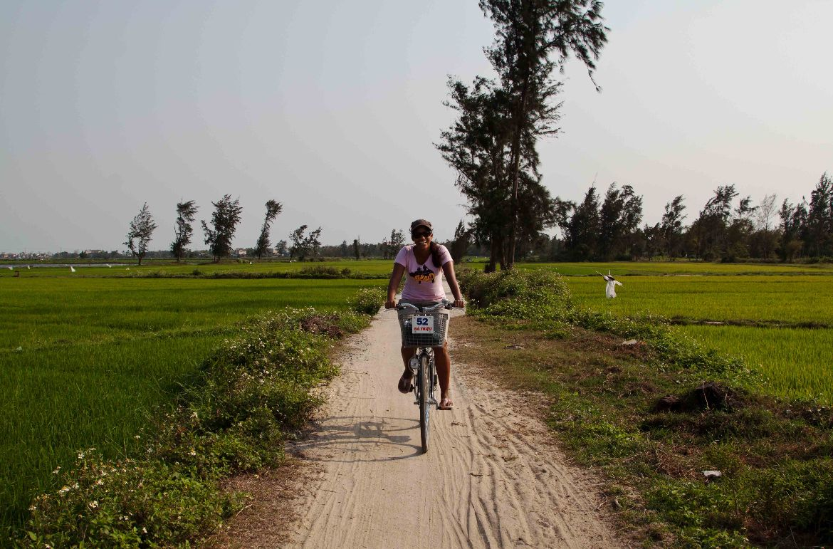 Biking to Hoi An beach