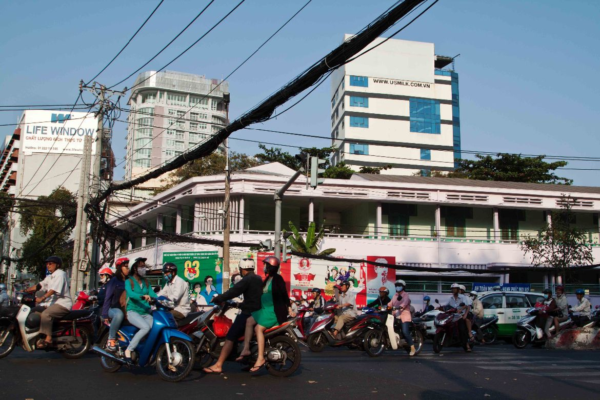 Scooters and cars Vietnam