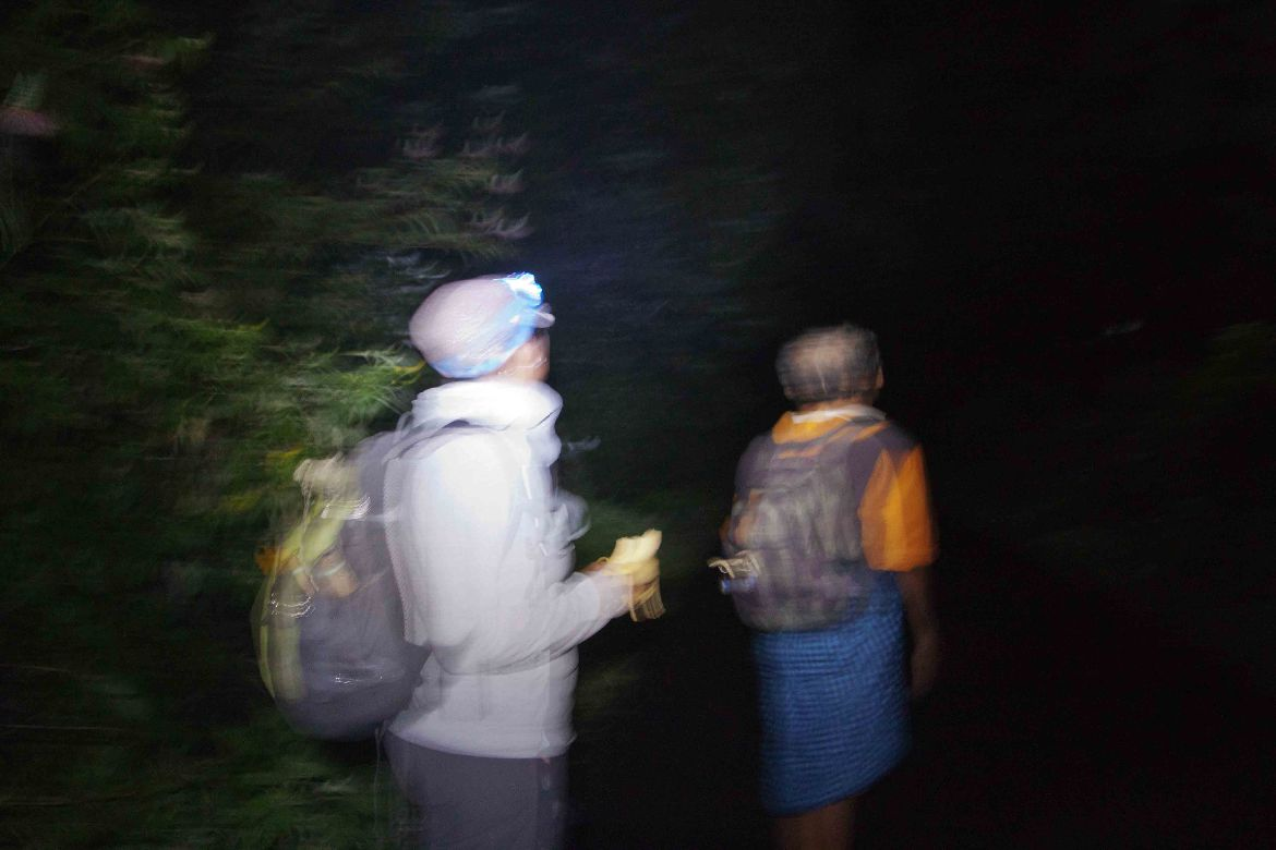 Trekking Mt. Inerie in the dark