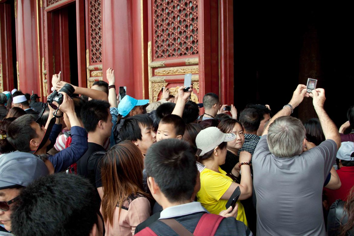 Forbidden City tourists